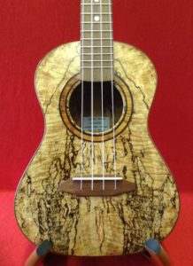 Spalted Mango Tenor by Green Sand Ukuleles